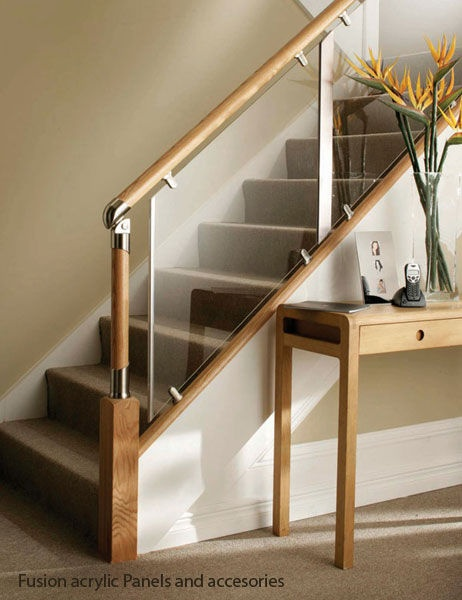 great staircases using glass | Glass and wood railing - FUSION® - Stair Plan