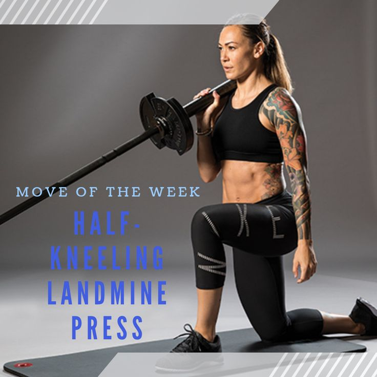 The Landmine Press Is A Pressing Variation That Is Done By Using A Barbell And Placing It Diagonally Into A Landmine Hold Military Press Overhead Press Get Fit