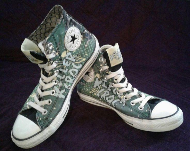 Converse Killer Croc High Top Sneakers Hi Mens 7 Womens 9 DC Comics Spiderman #Converse #HiTops