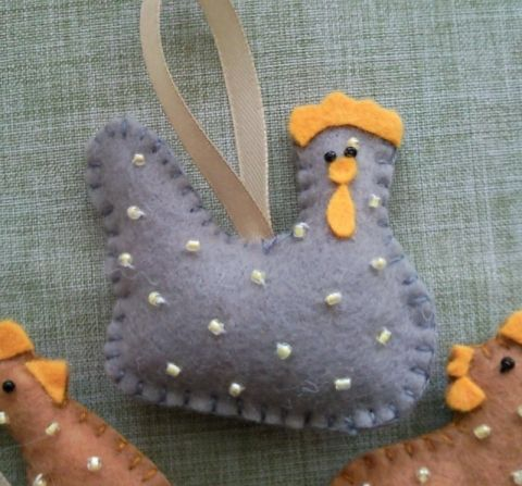 SPECIALE AANBIEDING - 25% korting op Last Minute Pasen - Pasen decoratie Vilt - kip, decoratie, decoratief, feestelijk decoraties, allerlei Pasen, Meska