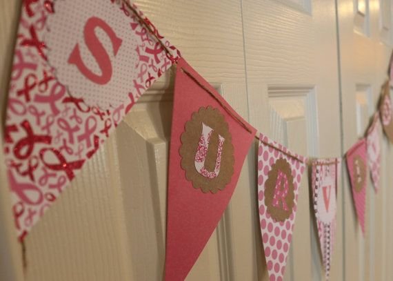 Breast Cancer Survivor Party Banner by HeatherAnnsHandmade on Etsy