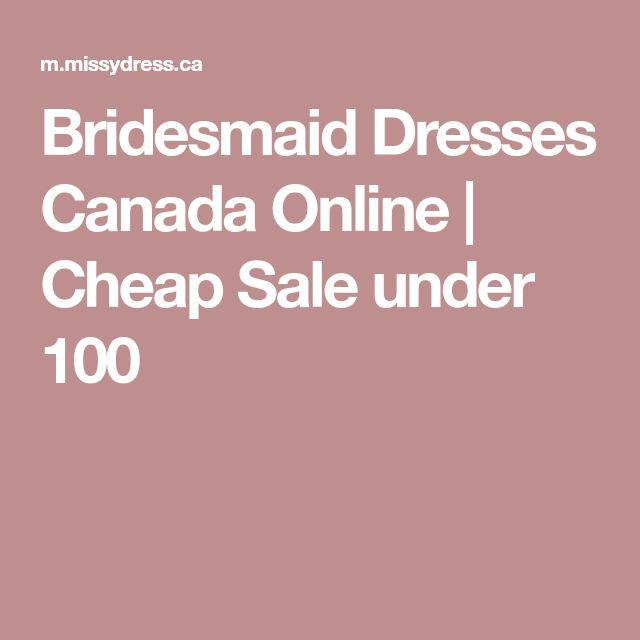 Bridesmaid Dresses Canada Online | Cheap Sale under 100
