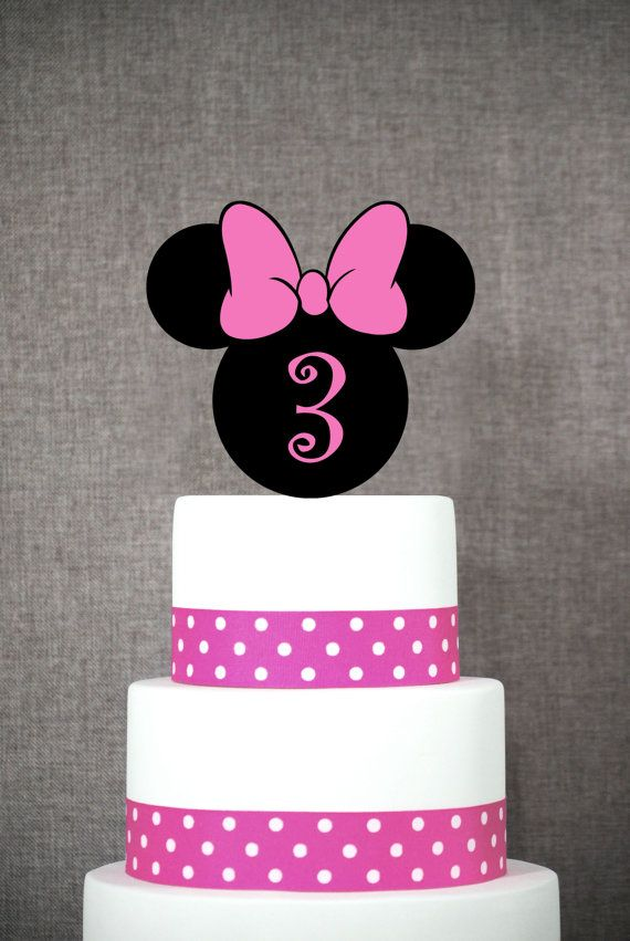 Minnie Mouse Birthday Cake Topper Fun Number by ChicagoFactory