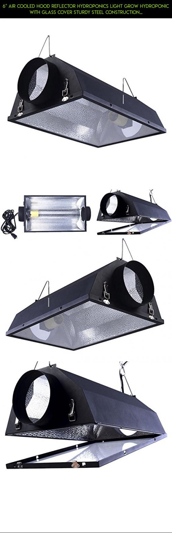 "6"" Air Cooled Hood Reflector Hydroponics Light Grow Hydroponic With Glass Cover Sturdy Steel Construction Rust-Proof Greenhouse Laboratory Plant Light #pad #shopping #technology #racing #gadgets #fpv #kit #and #tech #products #drone #camera #cooling #heating #parts #plans"