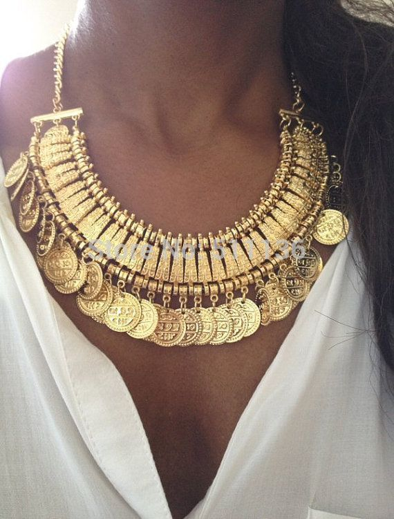 Gold Gypsy Coins Necklace