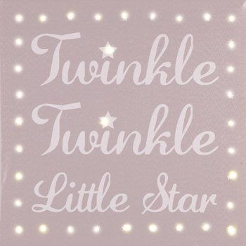 Twinkle twinkle LED Illuminated Canvas.  Great for night light as has a 2 hour…