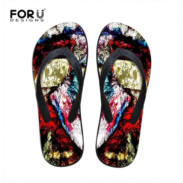 >> Click to Buy << Stylish Men Flip Flops Brand Fashion Beach Shoes for Men Graffiti Men's Flat Slippers Sandalias Masculina Summer Male Sandals #Affiliate