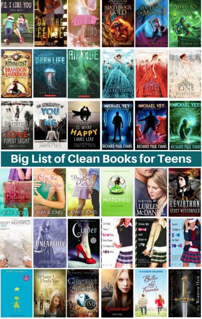Big list of Clean books for teenagers