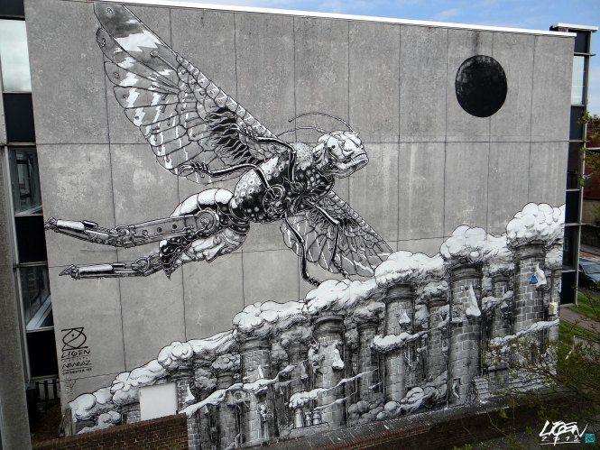 Street Art by Liqen in Chichester, UK