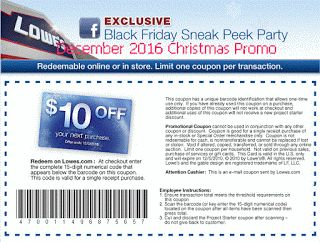 Lowes Home Improvement coupons for december 2016