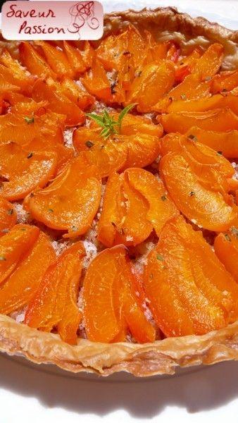 Tarte fine aux abricots et à la verveine