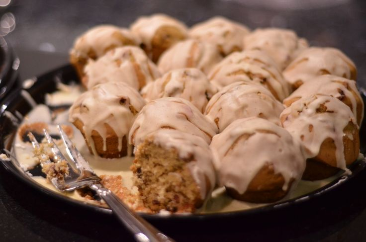 Adorable cinnamon buns. Oh! The things that turn up in the demonstration kitchen at Chef Supplies by KaTom!
