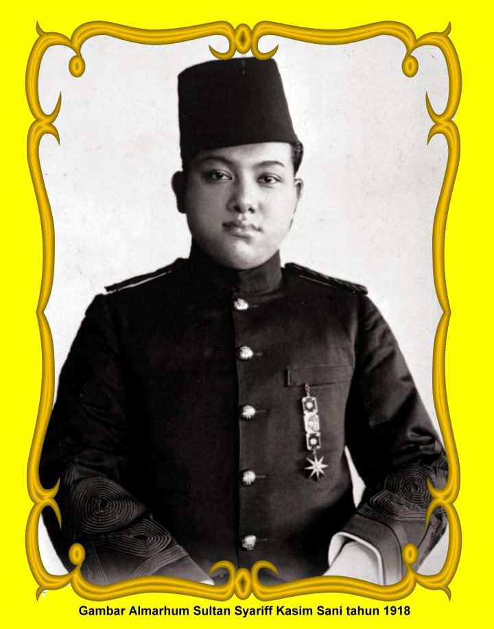 Late Sultan Syarif Kasim II in 1918