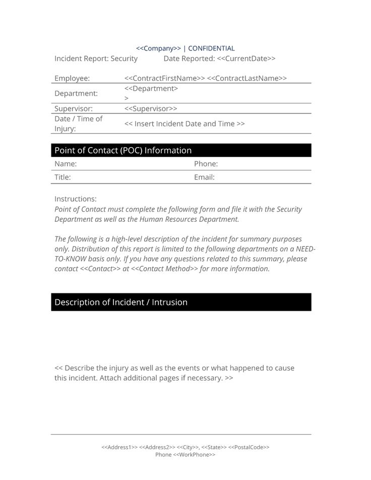 29 best Notification of Problem Documents images on Pinterest - injury incident report form template
