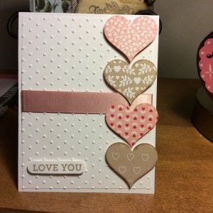 Stampin Up Bloomin' Love stamp set and Love Blossoms designer paper. Valentines Day card idea