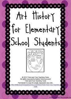 """The Best of Teacher Entrepreneurs: FREE MISC. LESSON - """"Art History for Elementary School Students"""""""