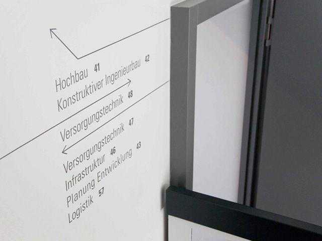 Orientierung in komplexen Bürogebäuden - signaletique.de _ IDEEN UND KNOW-HOW…
