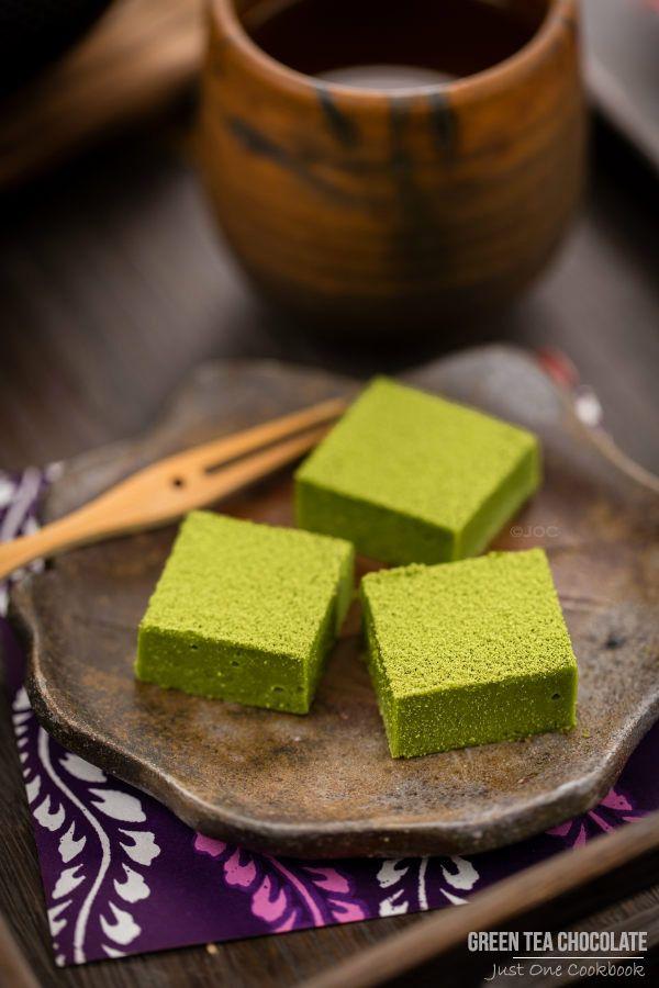 Green Tea Chocolate | Easy Japanese Recipes at JustOneCookbook @JustOneCookbook (Nami)