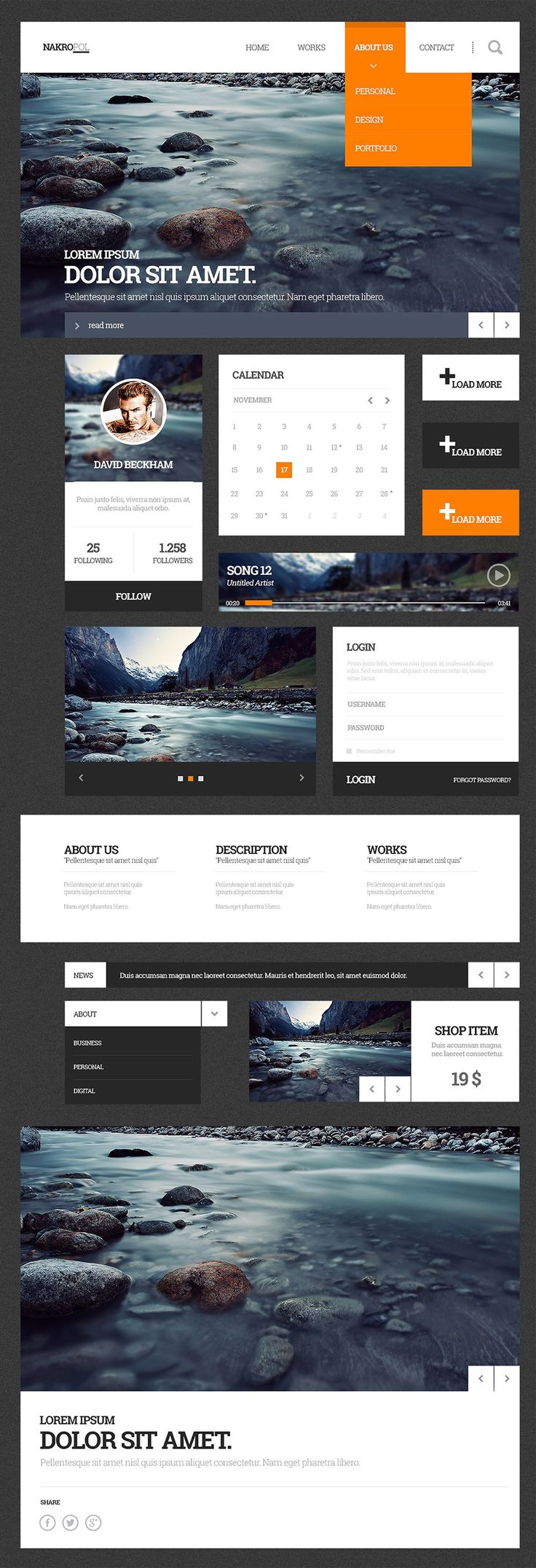 Latest Free UI Kits From 2015