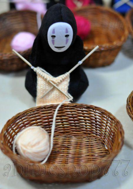 Studio Ghibli, Spirited Away, Kaonashi Knit Plush