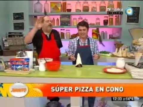 Increíble pizza en cono - YouTube