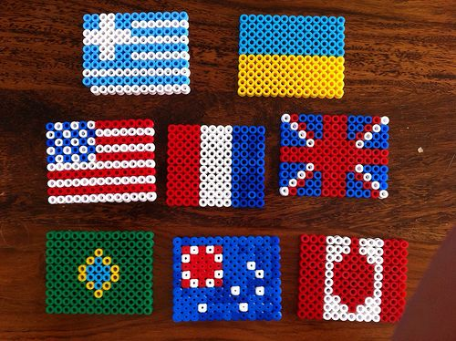 Hama bead flags
