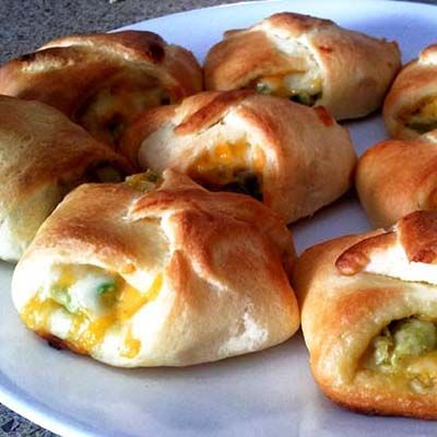 Fun with Crescent Rolls – Garlic Cheese, Pepperoni, Bacon, Chicken Avocado. Can't go wrong with almost any combo.