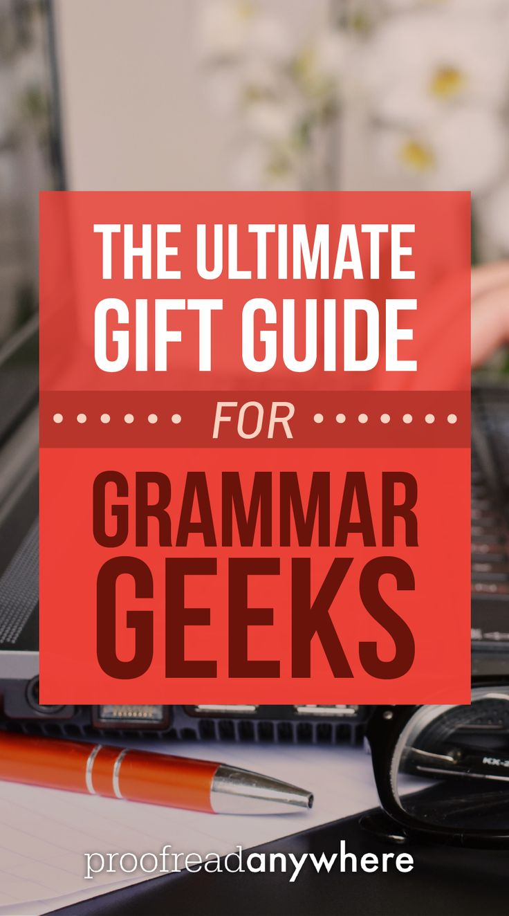 The ULTIMATE gift guide for all the grammar geeks and word nerds in your life! Gift ideas like books, fun games and more. via @#