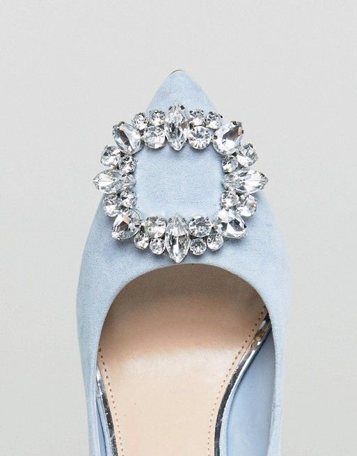 e03083099a Miss KG | Miss KG Square Jewel Trim Point High Heels | Wedding shoes ...