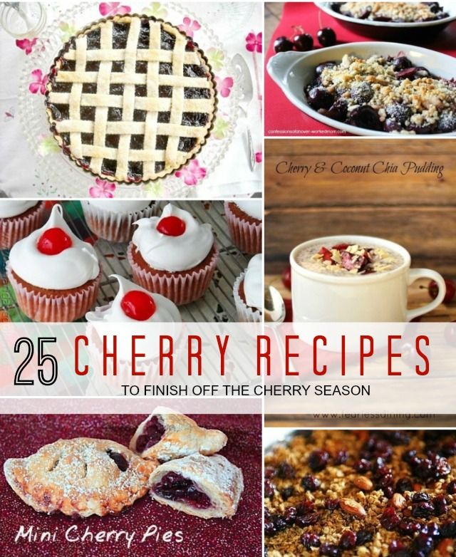 25 Cherry Recipes @homelifeabroad.com #cherries #recipes