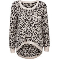 Billabong Girls Liv for Luv Leopard Print Sweater