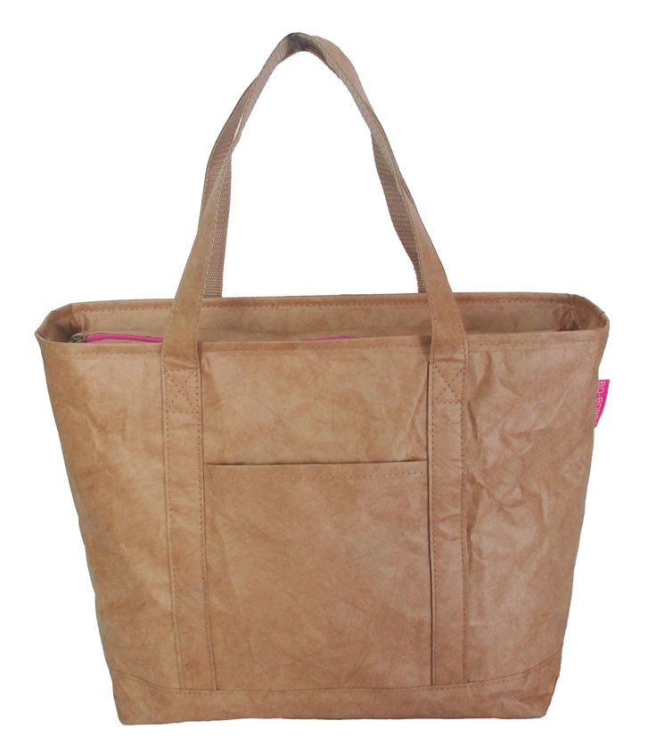 Flat handle Plain pink zip