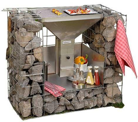 die besten 25 gabionen grill ideen auf pinterest tuin kleine terrasseng rten und urban. Black Bedroom Furniture Sets. Home Design Ideas
