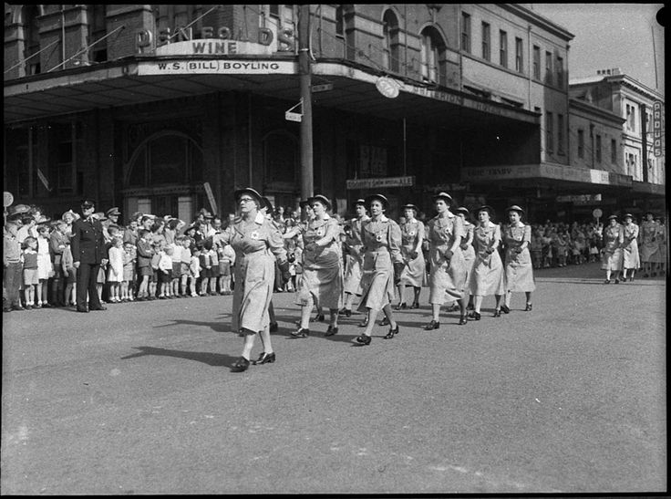 Nurses in  the Anzac Day march for 25 April 1955. From the Mitchell Library, State Library of New South Wales : http://www.acmssearch.sl.nsw.gov.au/search/itemDetailPaged.cgi?itemID=33503