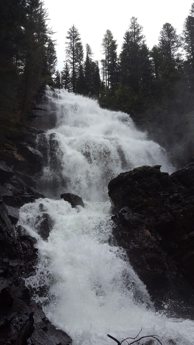 Morrell Falls Seeley Lake Montana [OC][2988x5312]