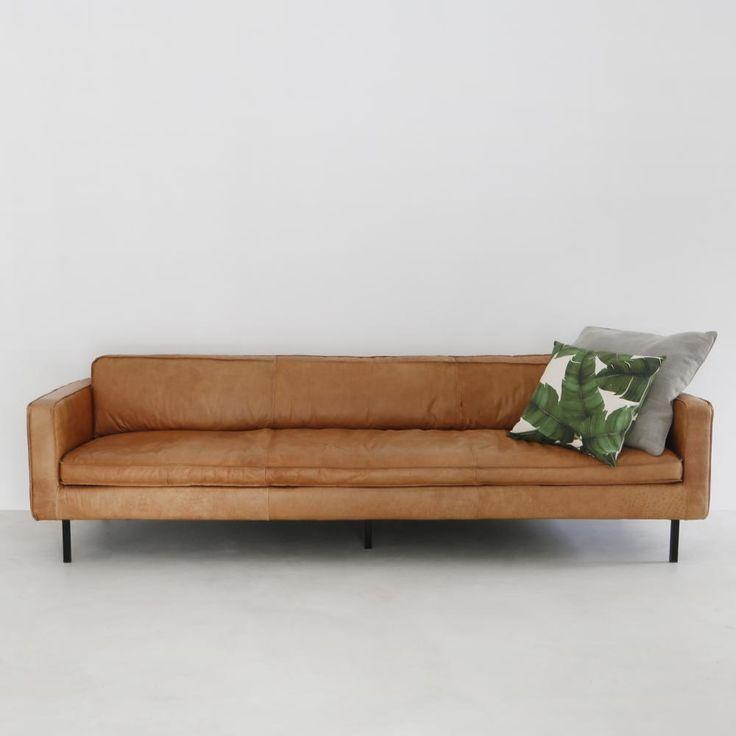 Cognac Lederen Sofa - Gordon | Furnified