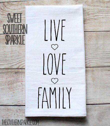 Rae Dunn Inspired Flour Sack Kitchen Towel – Live Love Family