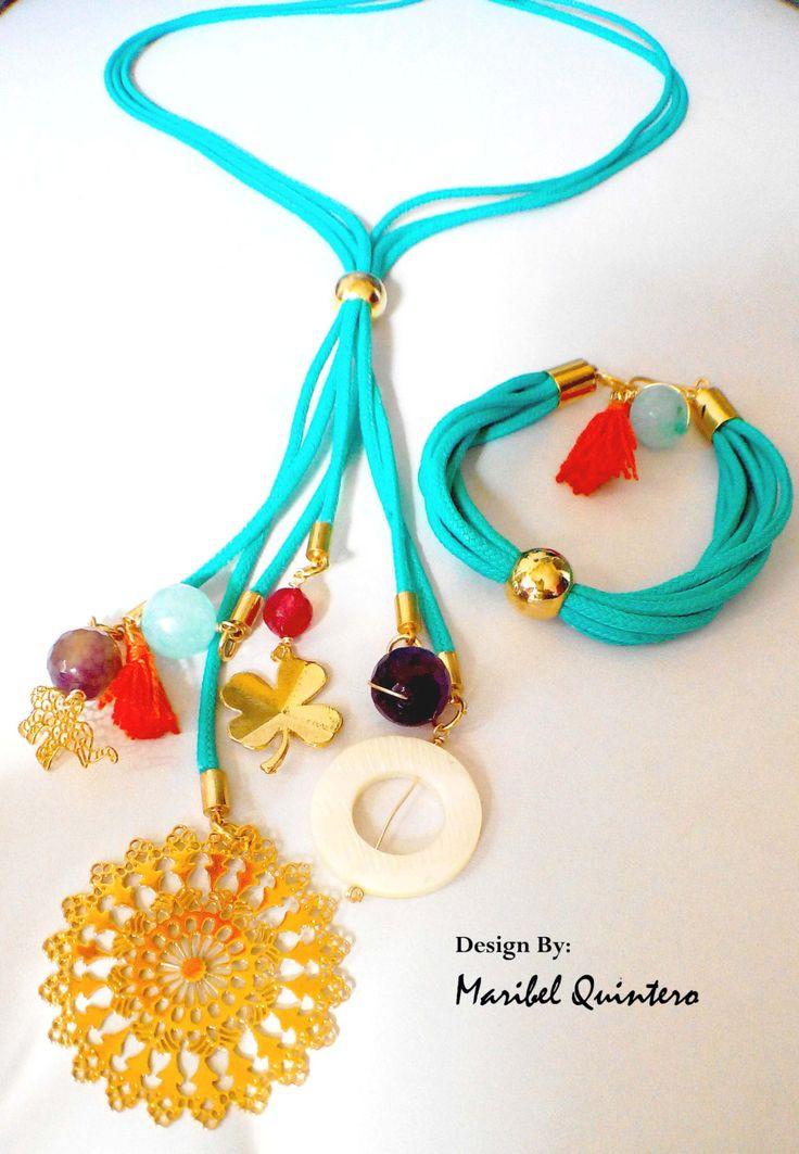 MULTI PENDANTS. Necklace and bracelet