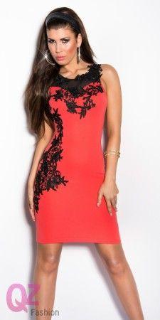 Qz Fashion Elegáns ruhák 0000K9103 KORALL
