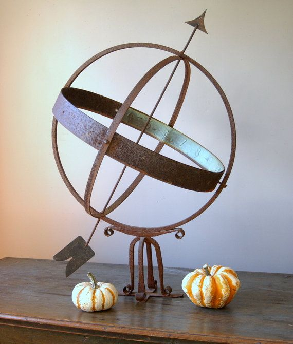 Perfect Antique Weathervane Metal Armillary Sphere By CountryAnthropology, $375.00