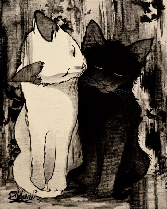 """TAKE CARE OF EACH OTHER"" Original painting by Raphaël Vavasseur art Original painting: http://ift.tt/2aN1IPf Fine art prints: http://ift.tt/2n0GdE2"