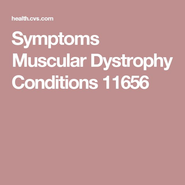 Symptoms Muscular Dystrophy Conditions 11656