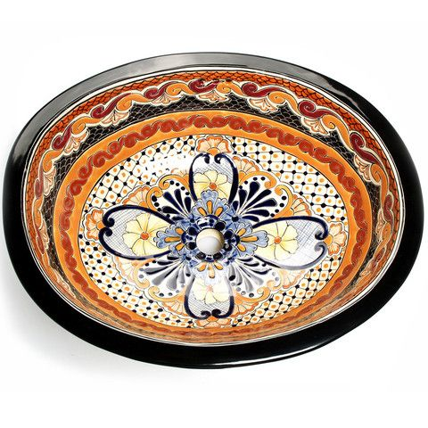 Photo Gallery For Website Mexican Ynes Large Drop In Hand painted Bathroom Basin