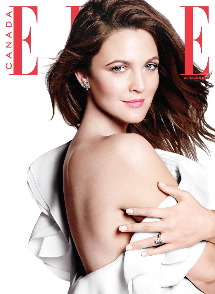 cool Elle Canada October 2014 | Drew Barrymore by Daniel Jackson  [Cover]