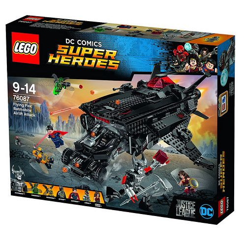 #LEGO #DC Comics Super Heroes #JusticeLeague Flying Fox: Batmobile Airlift Attack (76087) http://www.thebrickfan.com/lego-dc-comics-super-heroes-justice-league-official-set-images-and-descriptions/
