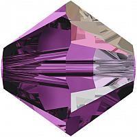 Swarovski® Crystals Xilion Beads 5328 4mm Amethyst AB