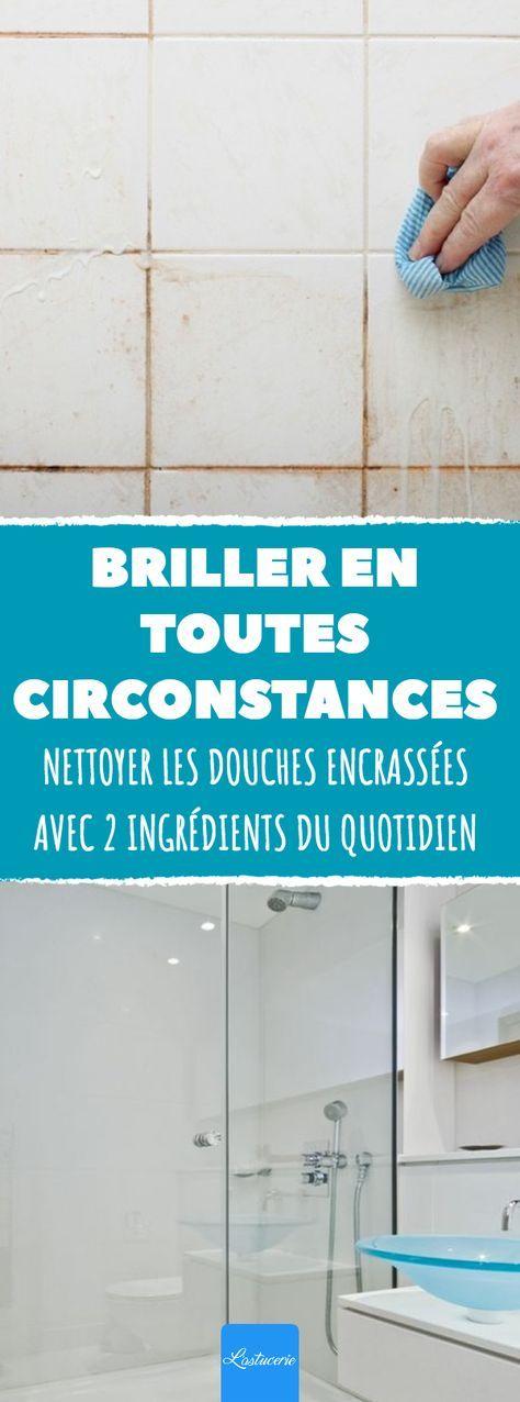 Nettoyer les douches encrass es avec 2 ingr dients du - Nettoyer des joints de douche ...
