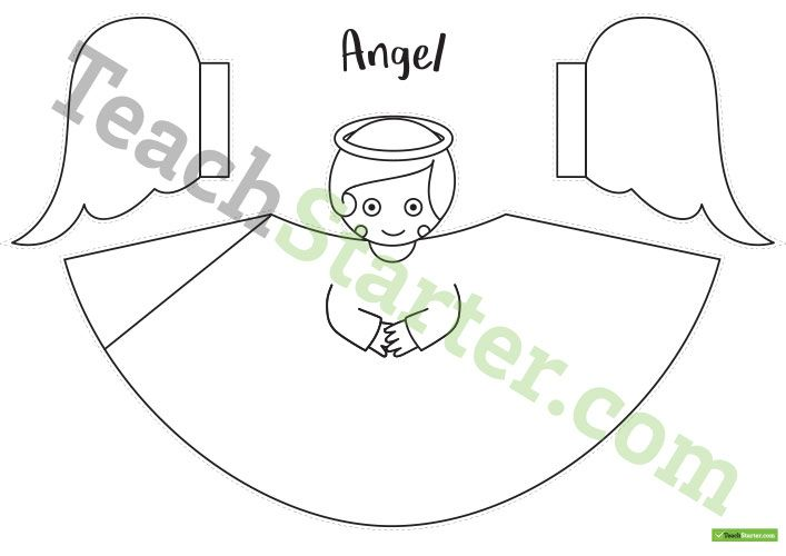 Free Template Printable Tree Angel Topper