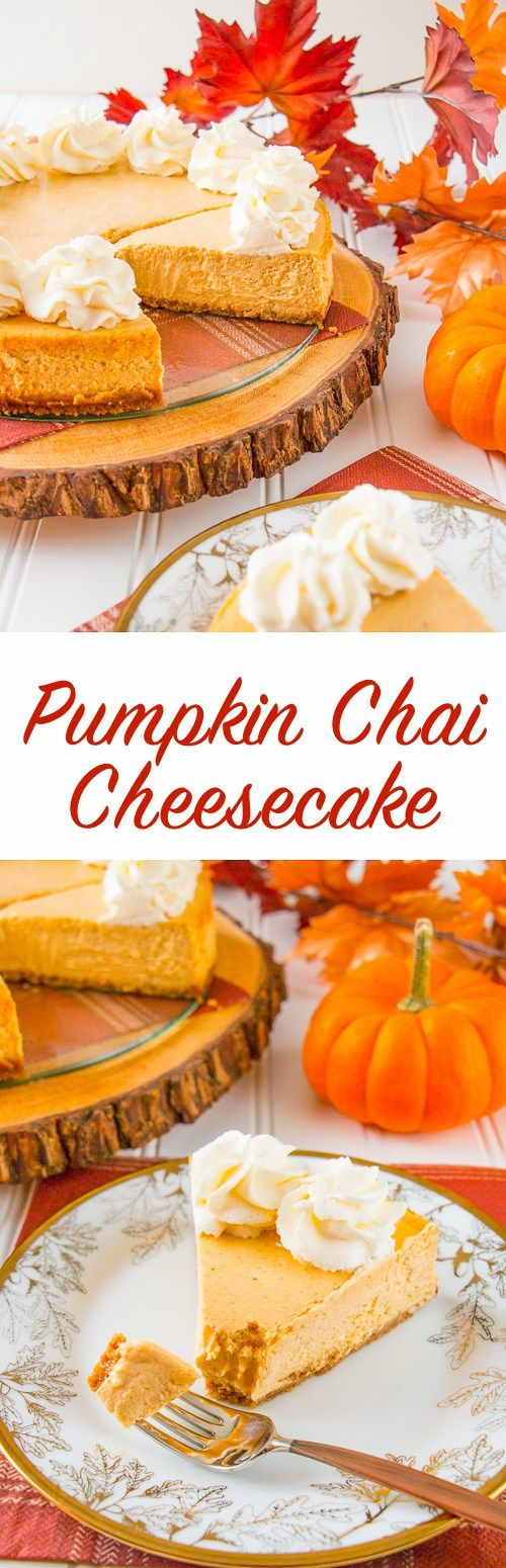 This is the creamiest and dreamiest pumpkin cheesecake you'll ever make. It's perfectly spiced with cinnamon, cardamon and has a gingersnap cookie crust. #pumpkincheesecake #thanksgivingdesserts