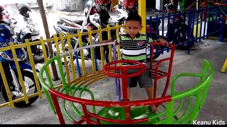Masuk sekolah terima raport dan bermain ayunan Playground | Keanu Kids